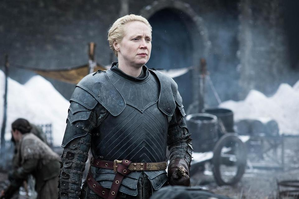 "Gwendoline Christie plays Brienne of Tarth on ""Game of Thrones."" MUST CREDIT: Helen Sloane, HBO"